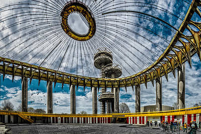 Pavilions Digital Art - The 1964 New York State Pavilion by Chris Lord