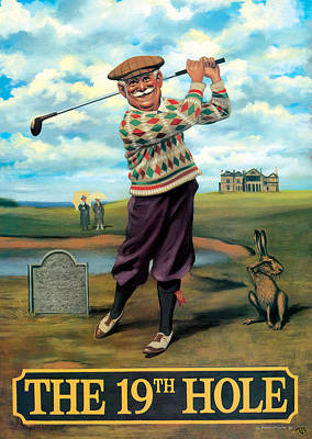 Painting - The 19th Hole by Peter Green