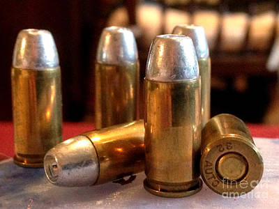 Ammunition Photograph - Bullet Art 32 Caliber Hollow Point Bullet 1 by Lesa Fine
