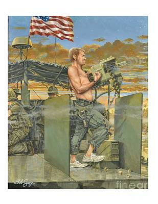 Painting - The 458th Transortation Co. In Vietnam. by Bob  George