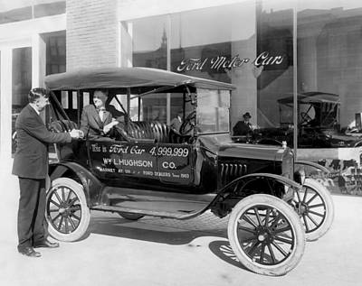 Market Street Photograph - The 4,999,999 Ford Produced by Underwood Archives