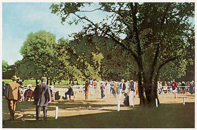 The 500 Metre Race Is Run In  The Bois Art Print by Mary Evans Picture Library