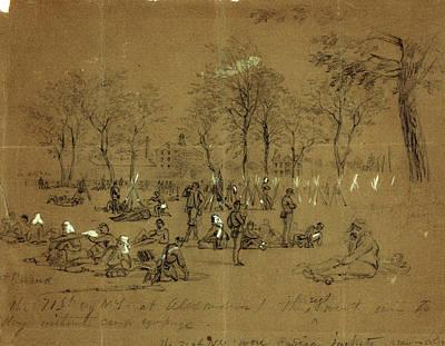 The 71st Reg. N.y. At Alexandria, 1861 May 24-31 Art Print