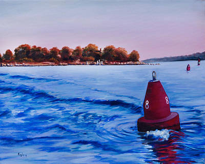 Blue Bouys Painting - The 8 Nun by Rachel Fogle