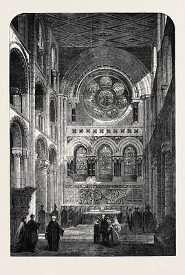The Abbey Church Of Waltham Holy Cross The New East End Art Print by English School