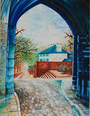 Painting - The Abbey Gate - St Albans by Giovanni Caputo