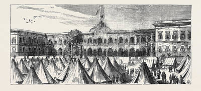 Barrack Drawing - The Abdin Barracks, Cairo, Egypt by Egyptian School