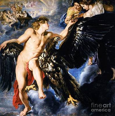 Painting - The Abduction Of Ganymede by Pg Reproductions