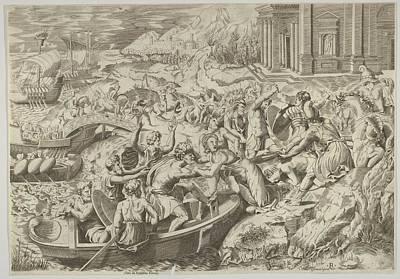 The Abduction Of Helen Battle Scene Art Print