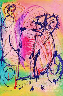 The Abstract Music Makers Art Print by Ruth Yvonne Ash
