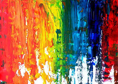 The Abstract Rainbow Beach Series I Original by M Bleichner