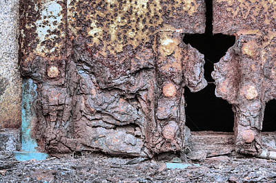 Stone Abstraction Photograph - The Abstraction Of Rust by JC Findley