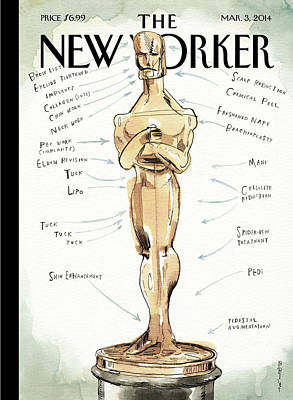 Oscar Painting - Ready For His Closeup by Barry Blitt