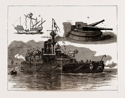 Collingwood Drawing - The Accident On Board H.m.s. Collingwood by Litz Collection