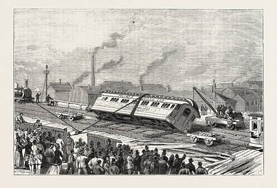 The Accident To The Flying Scotchman, Near Sheffield Print by English School