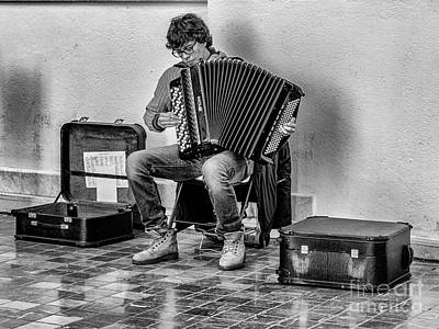 Photograph - The Accordion by Eugenio Moya