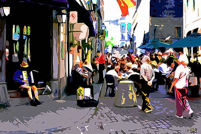 Pop Art - The Accordion Player by CHAZ Daugherty