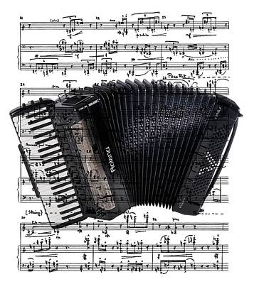 Digital Art - The Accordion by Ron Davidson