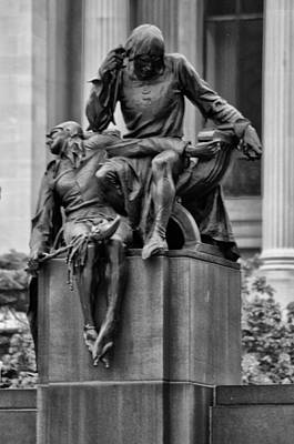 The Actor Statue Philadelphia Art Print by Bill Cannon