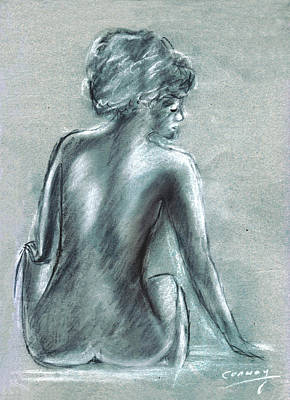 Drawing - The Actress by Tom Conway