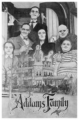 Logos Drawing - The Addams Family Montage by Mark Harris