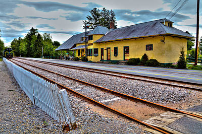 Photograph - The Adirondack Scenic Railroad by David Patterson