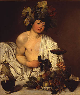 Warm Colors Painting - The Adolescent Bacchus by Caravaggio