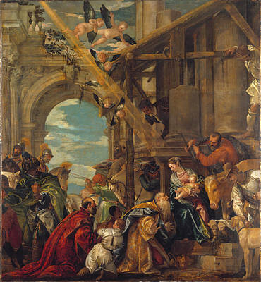 Angel Art Painting - The Adoration Of The Kings by Paolo Veronese