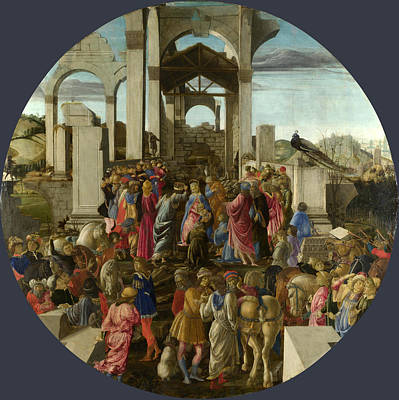 The Adoration Of The Kings Art Print by Sandro Botticelli