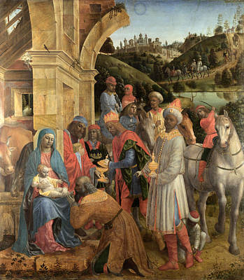 Vincenzo Foppa Painting - The Adoration Of The Kings by Vincenzo Foppa
