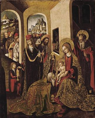 The Adoration Of The Magi. 15th C Art Print by Everett