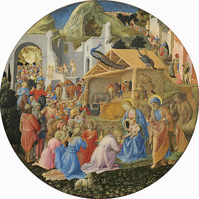Three Kings Photograph - The Adoration Of The Magi, C.1440-60 Tempera On Panel by Fra Angelico