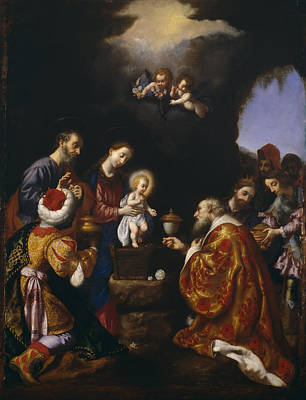 Three Kings Painting - The Adoration Of The Magi by Carlo Dolci