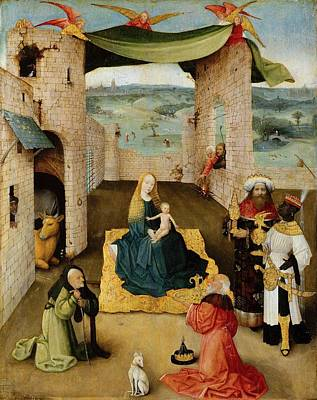1470 Painting - The Adoration Of The Magi by Hieronymus Bosch