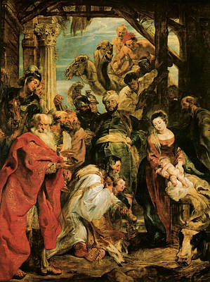 The Adoration Of The Magi Print by Peter Paul Rubens