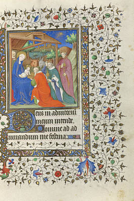 1420 Painting - The Adoration Of The Magi Unknown Paris by Litz Collection