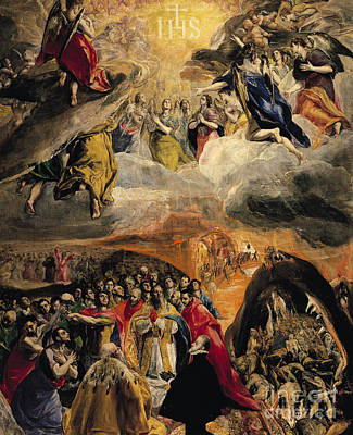 The Adoration Of The Name Of Jesus Print by El Greco Domenico Theotocopuli