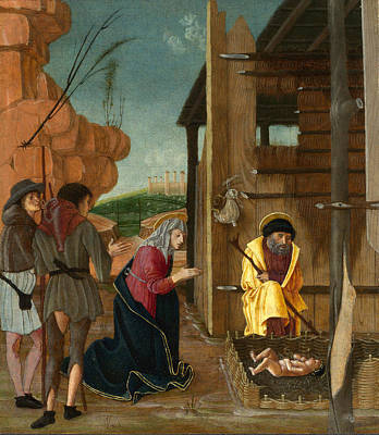 The Adoration Of The Shepherds Art Print by Bernardino Butinone