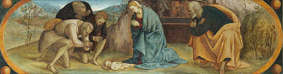 The Adoration Of The Shepherds Art Print by Luca Signorelli