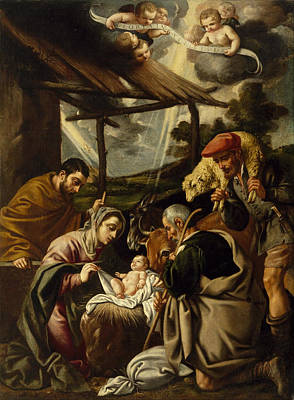 Religious Artist Painting - The Adoration Of The Shepherds by Pedro Orrente