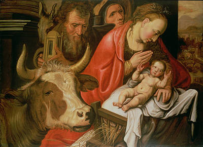 Manger Wall Art - Painting - The Adoration Of The Shepherds by Pieter Aertsen