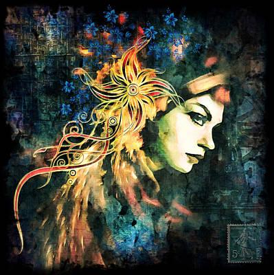 Portraiture Digital Art - The Adultress Grunge Art by Georgiana Romanovna