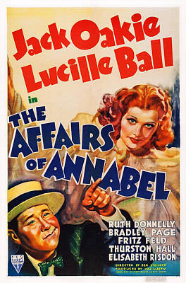 1938 Movies Photograph - The Affairs Of Annabel, Us Poster by Everett