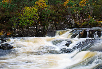 Glen Affric Photograph - The Affric River In Glen Affric by Louise Heusinkveld