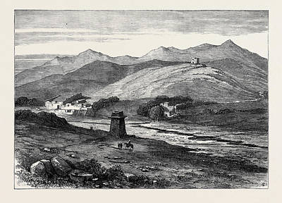 The Afghan War Village Of Lala Cheena On The Khyber River Art Print