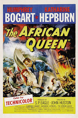 Katharine Hepburn Photograph - The African Queen  by Movie Poster Prints