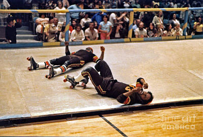 Photograph - The Aftermath At Old School Roller Derby  by Jim Fitzpatrick