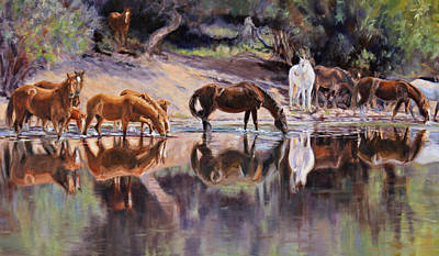 Painting - The Afternoon Drink by Karen McLain