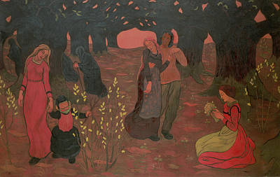 Post-impressionist Photograph - The Ages Of Life, 1892 Oil On Canvas by Georges Lacombe
