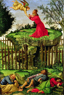 Jesus Photograph - The Agony In The Garden, C.1500 Oil On Canvas by Sandro Botticelli